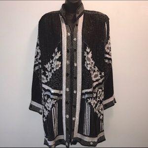Vintage La DIVINA Beaded/Sequin Jacket~ArT DeCo~L~